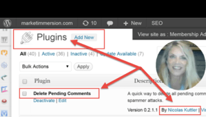 WordPress Plugin Will Remove All Pending Comments In Seconds
