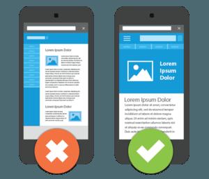 mobile responsive -vs-non-mobile responsive