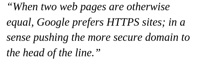 HTTPS Quote by Gary Illyes