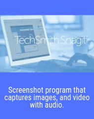 Snagit Image Video and Audio Screen Capture